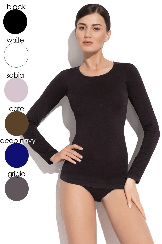 Dámske tričko 2635s black - GATTA čierna L