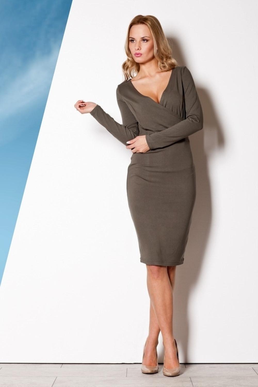 Dámske šaty M264 oliva - fígľov Olive L