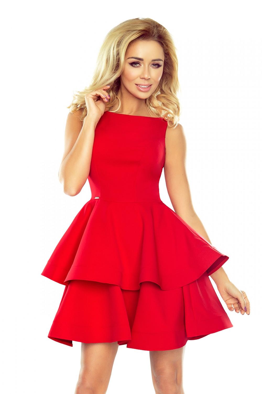Dámske šaty 169-1 - NUMOCO červená L