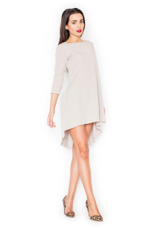Dámske šaty K141 béžové - KATRUS béžová M