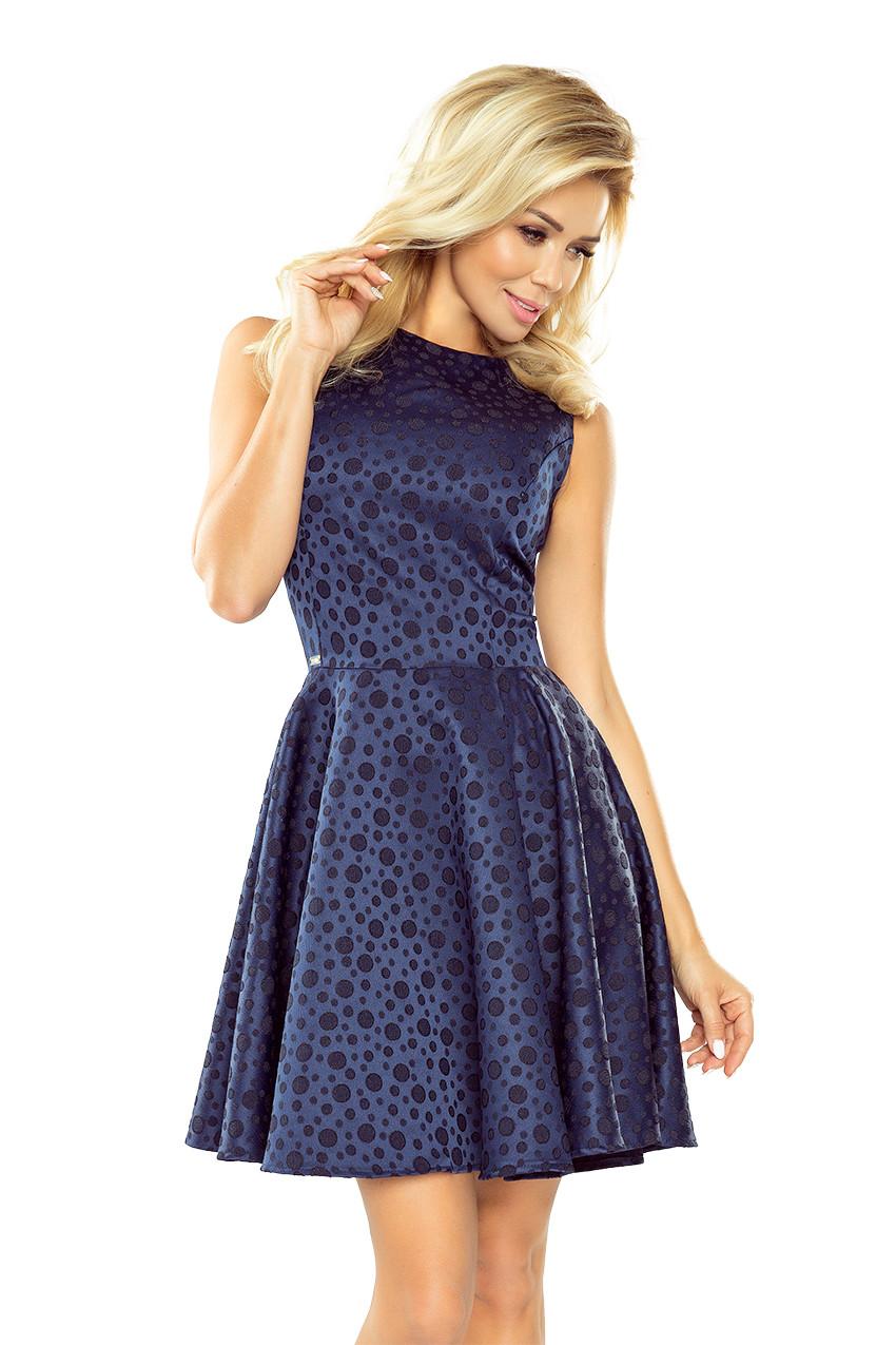 Dámske šaty 125-22 - NUMOCO tmavo modrá XL