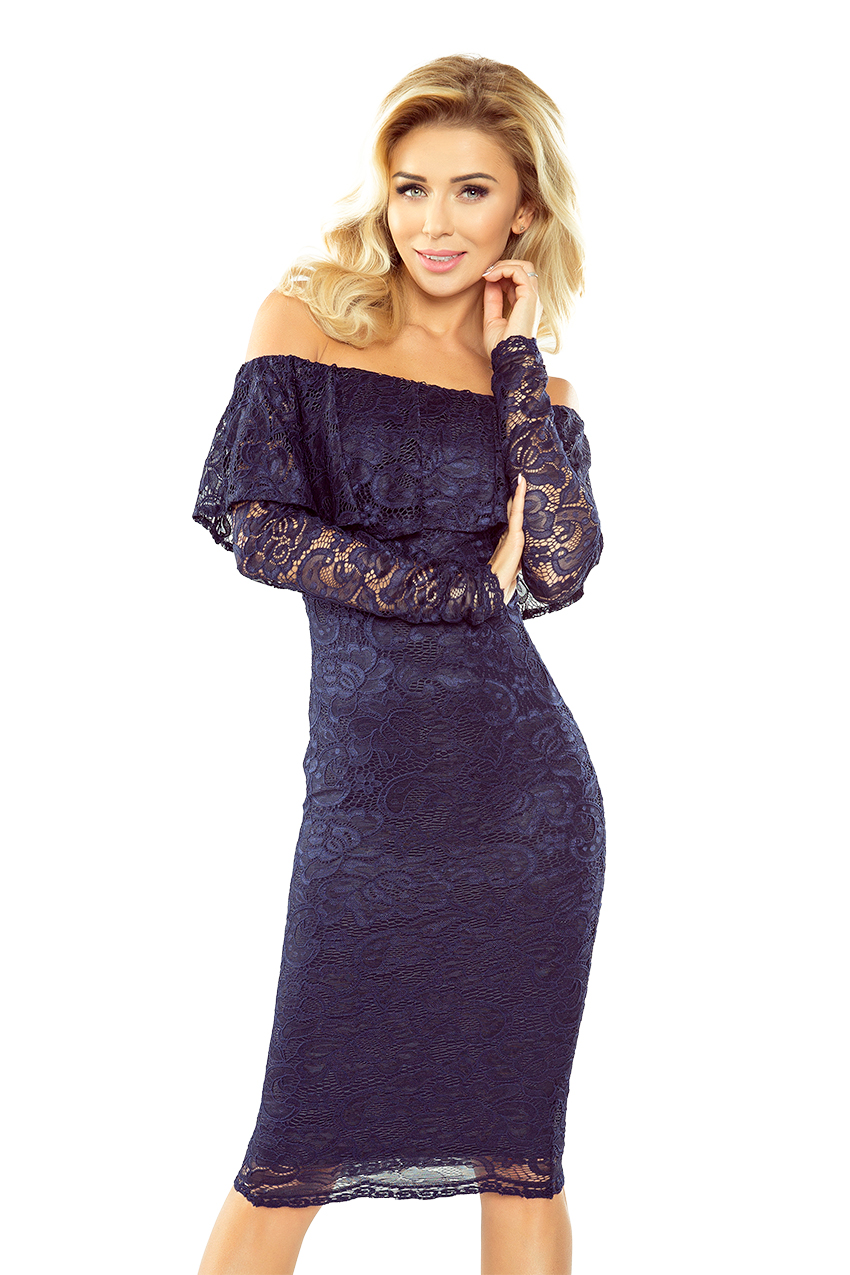 Dámske šaty 021-2 - MORIMIA tmavo modrá S