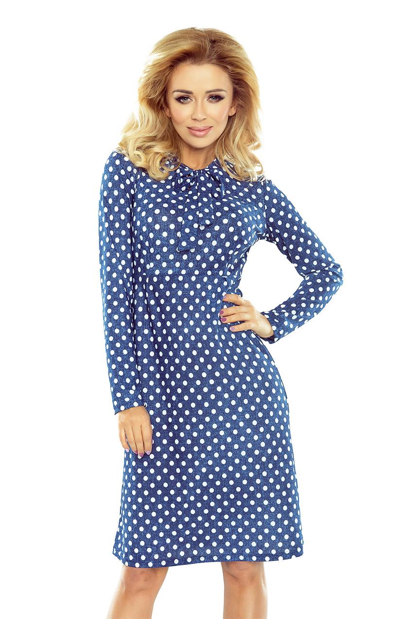 Dámske šaty 158-1 - NUMOCO svetlo modrá džínsovina S