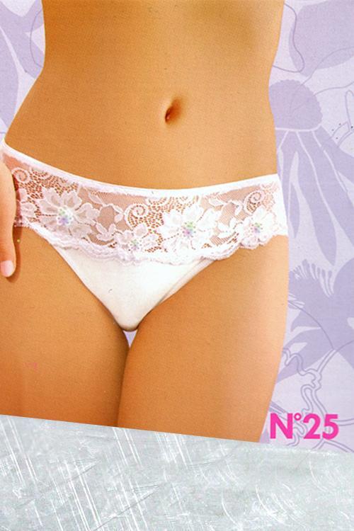 Dámské kalhotky 25 white bílá M