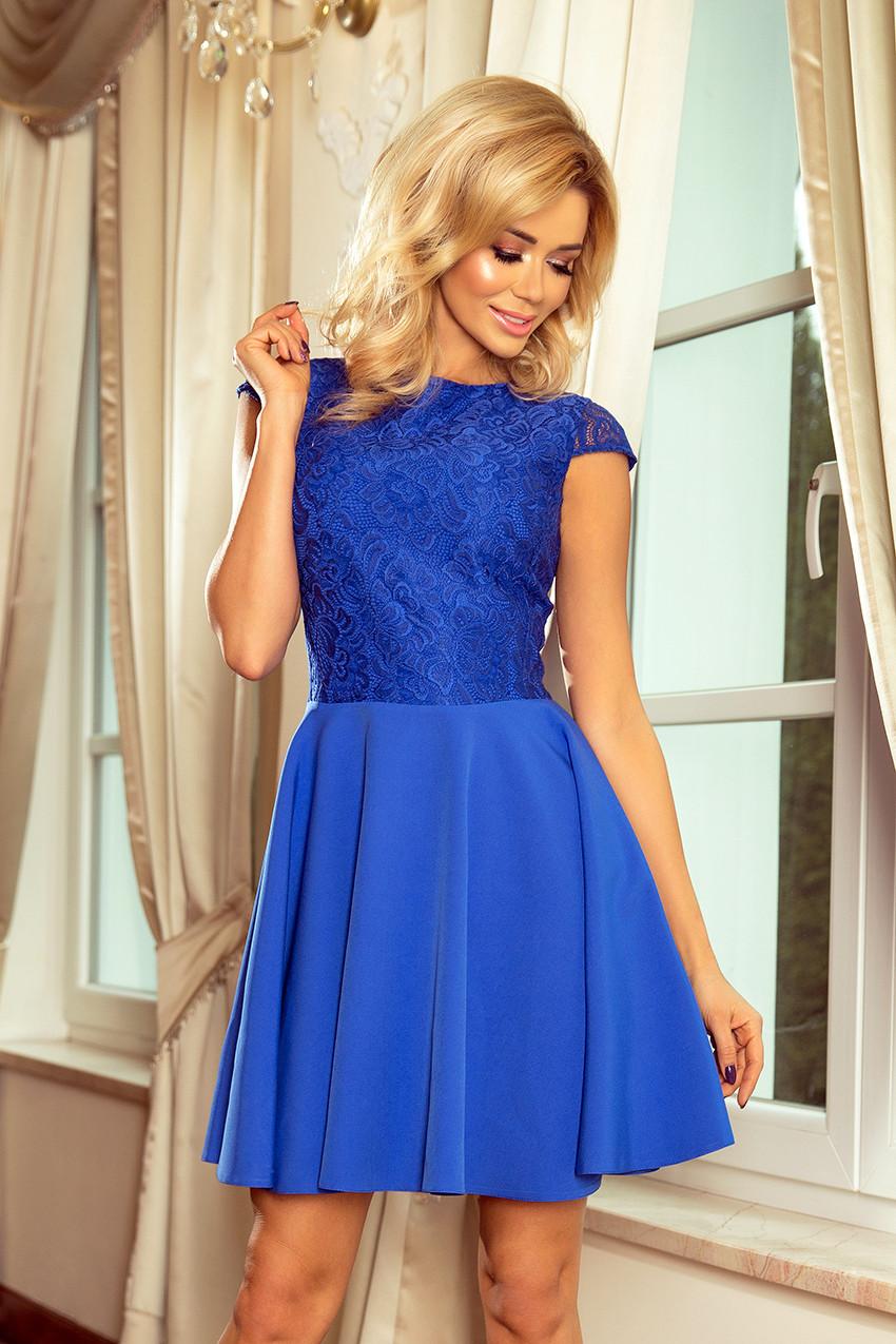 60e414f9f98c Dámské šaty 157-5 královsky modrá L