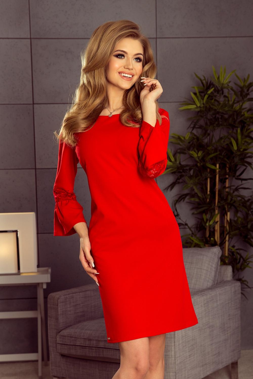 Dámske šaty 190-3 - NUMOCO červená S