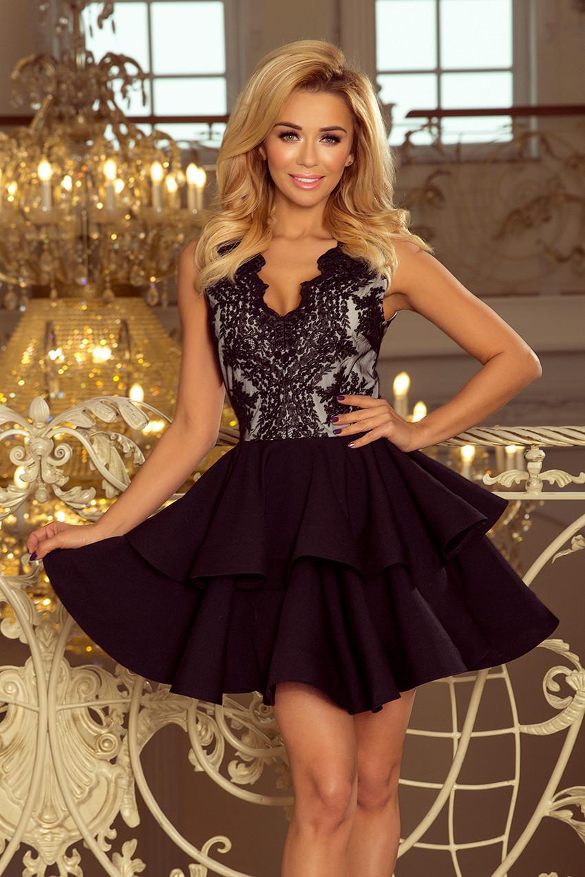 ac807104654 Dámské šaty 200-3 Barva  černá