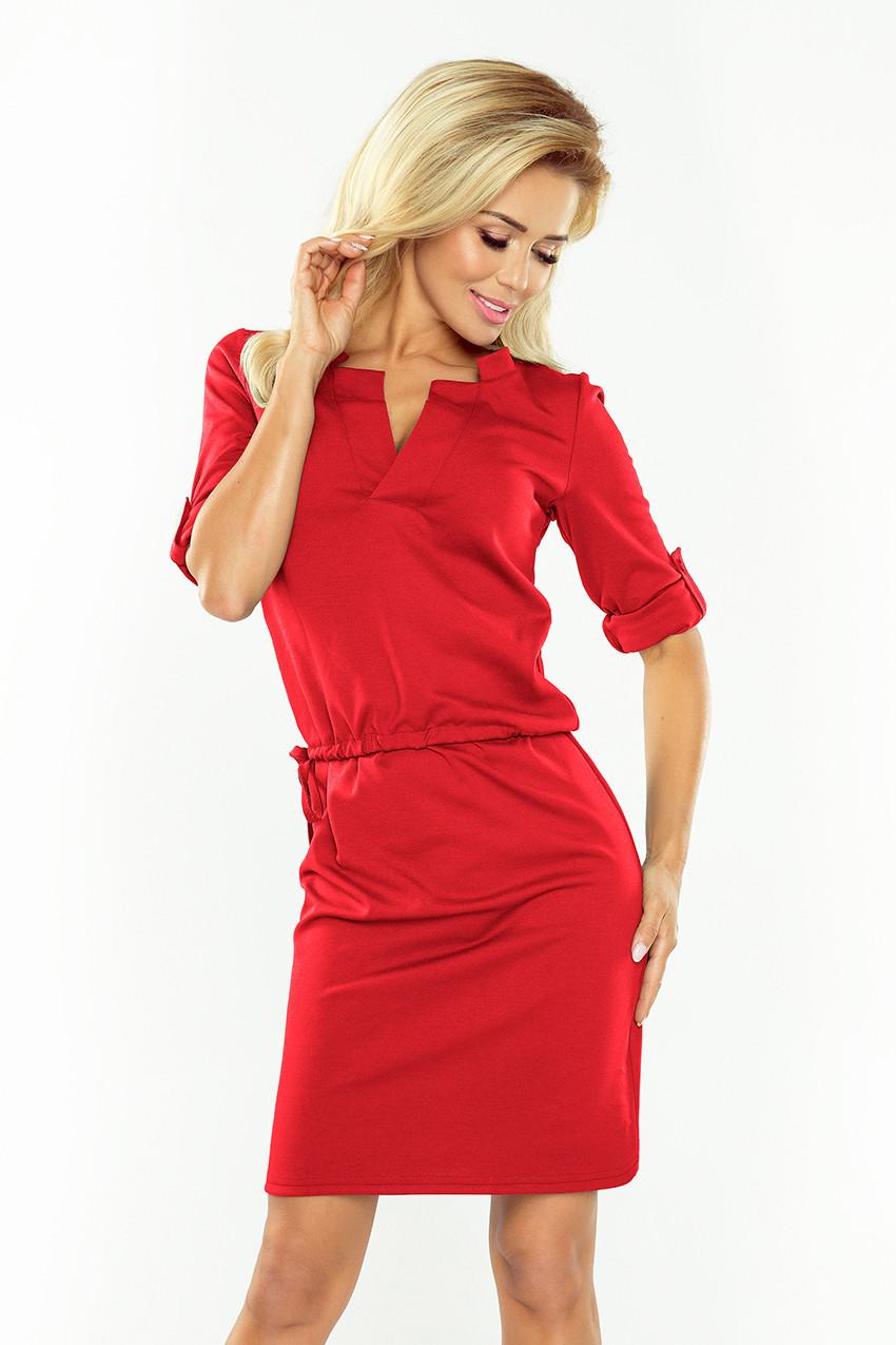 Dámske šaty 161-11 - NUMOCO červená XS