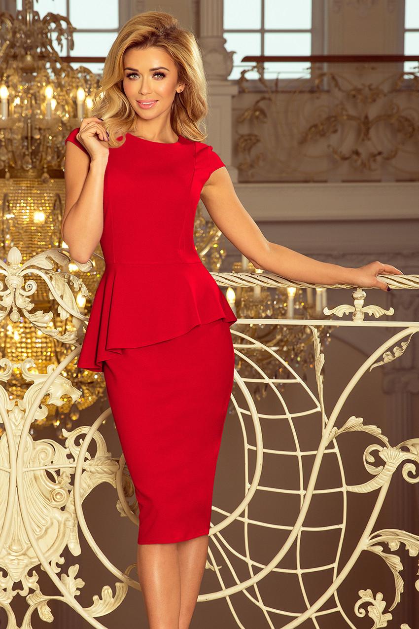 Dámske šaty 192-5 - NUMOCO červená XXL
