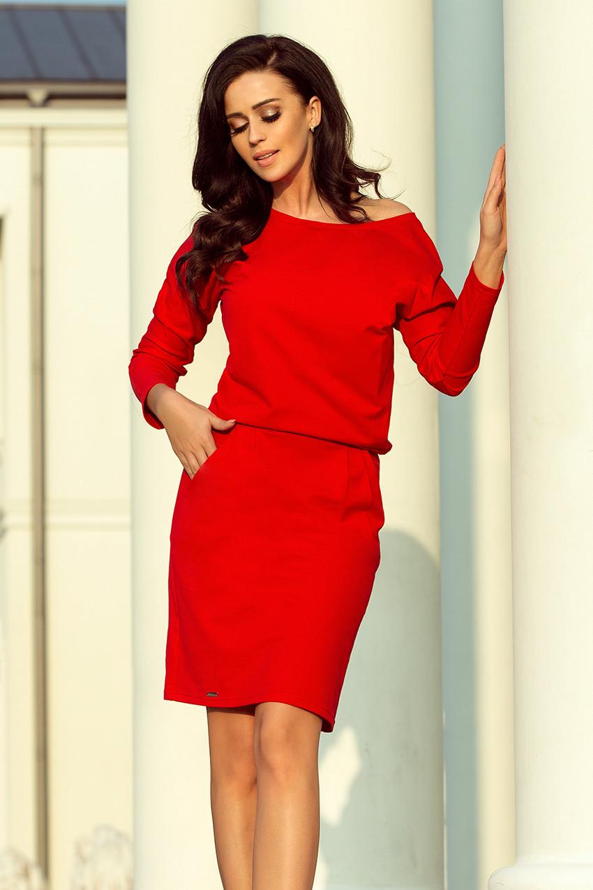 Dámske šaty 189-4 - NUMOCO červená S