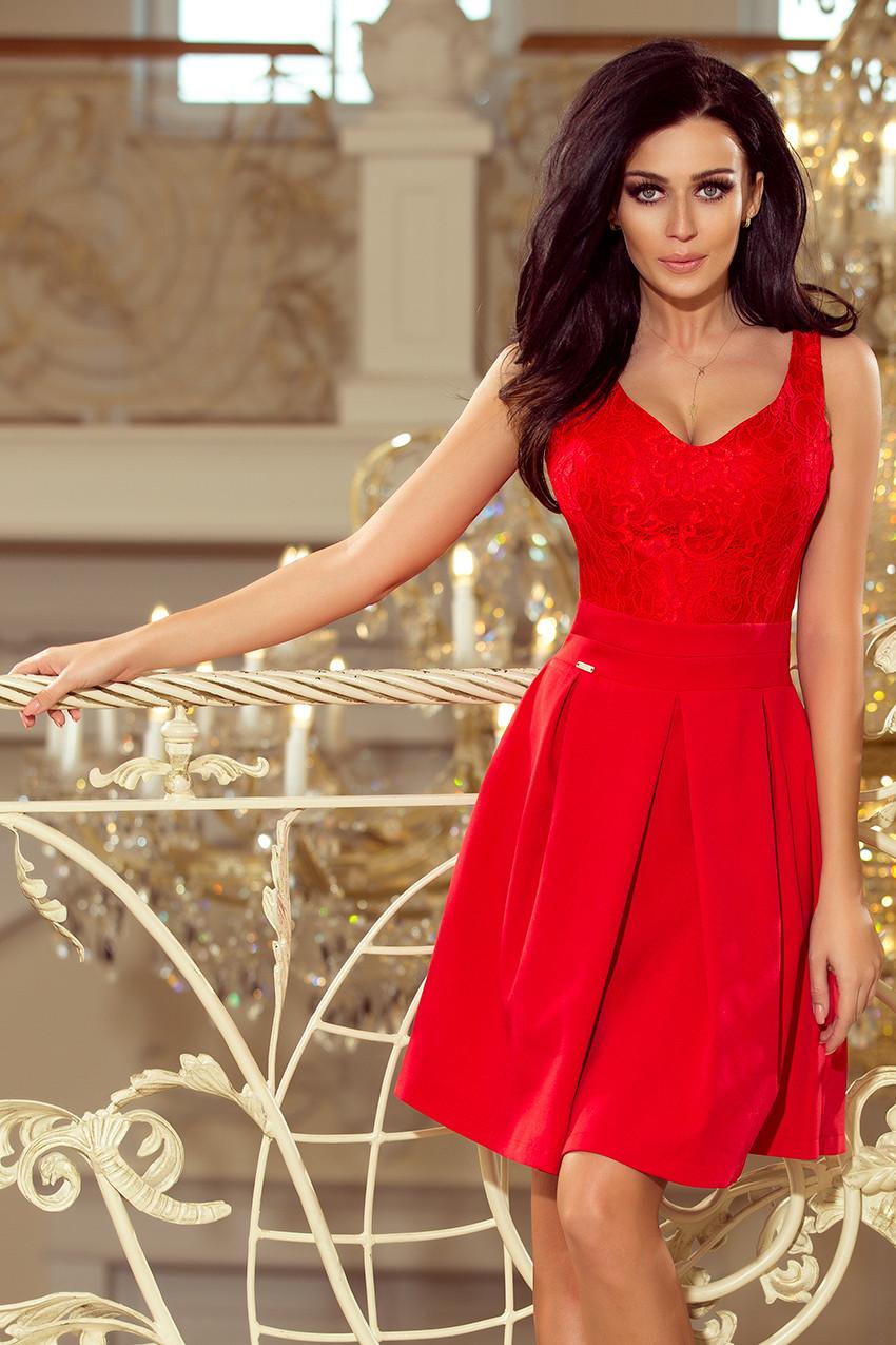 Dámske šaty 208-2 - NUMOCO červená L