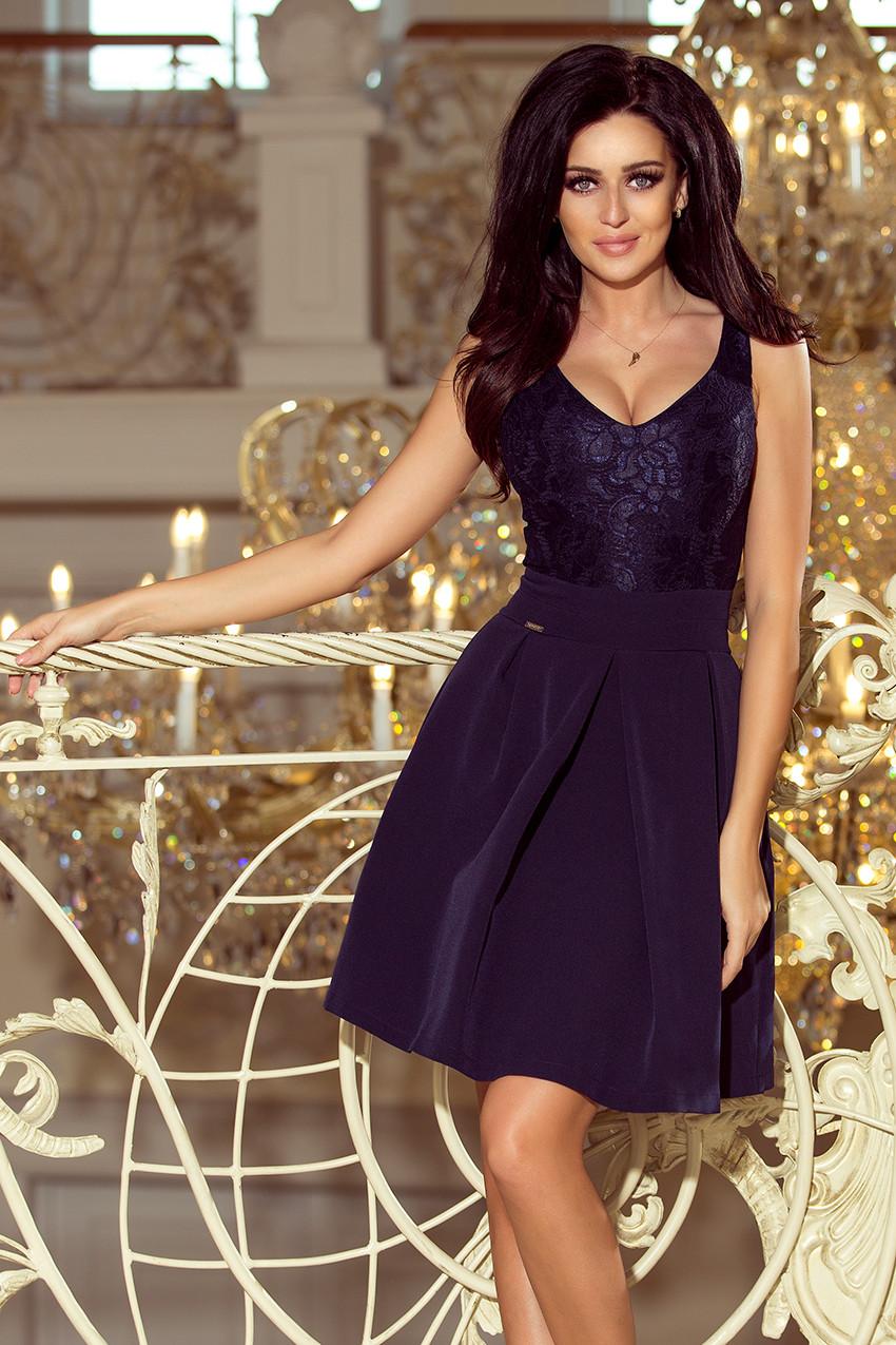 Dámske šaty 208-1 - NUMOCO tmavo modrá S