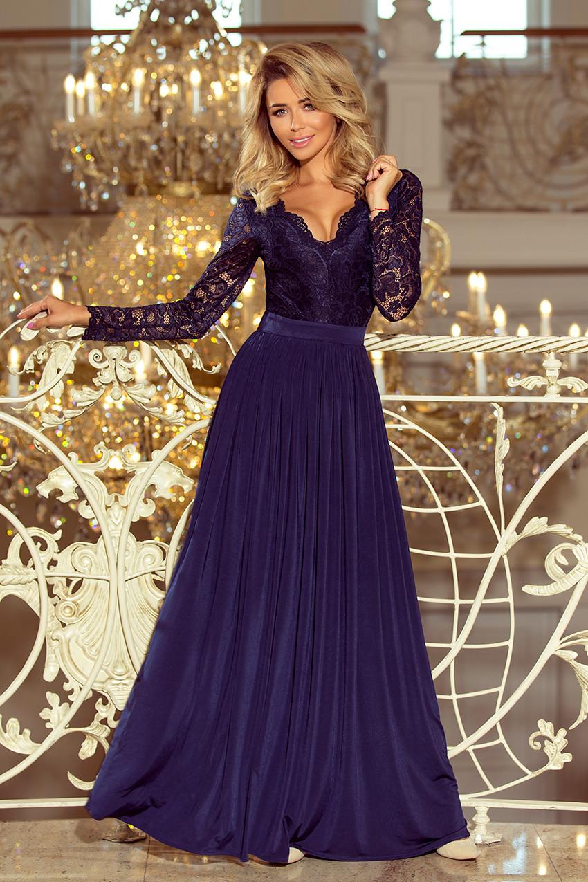 Dámske šaty 214-1 - NUMOCO tmavo modrá S
