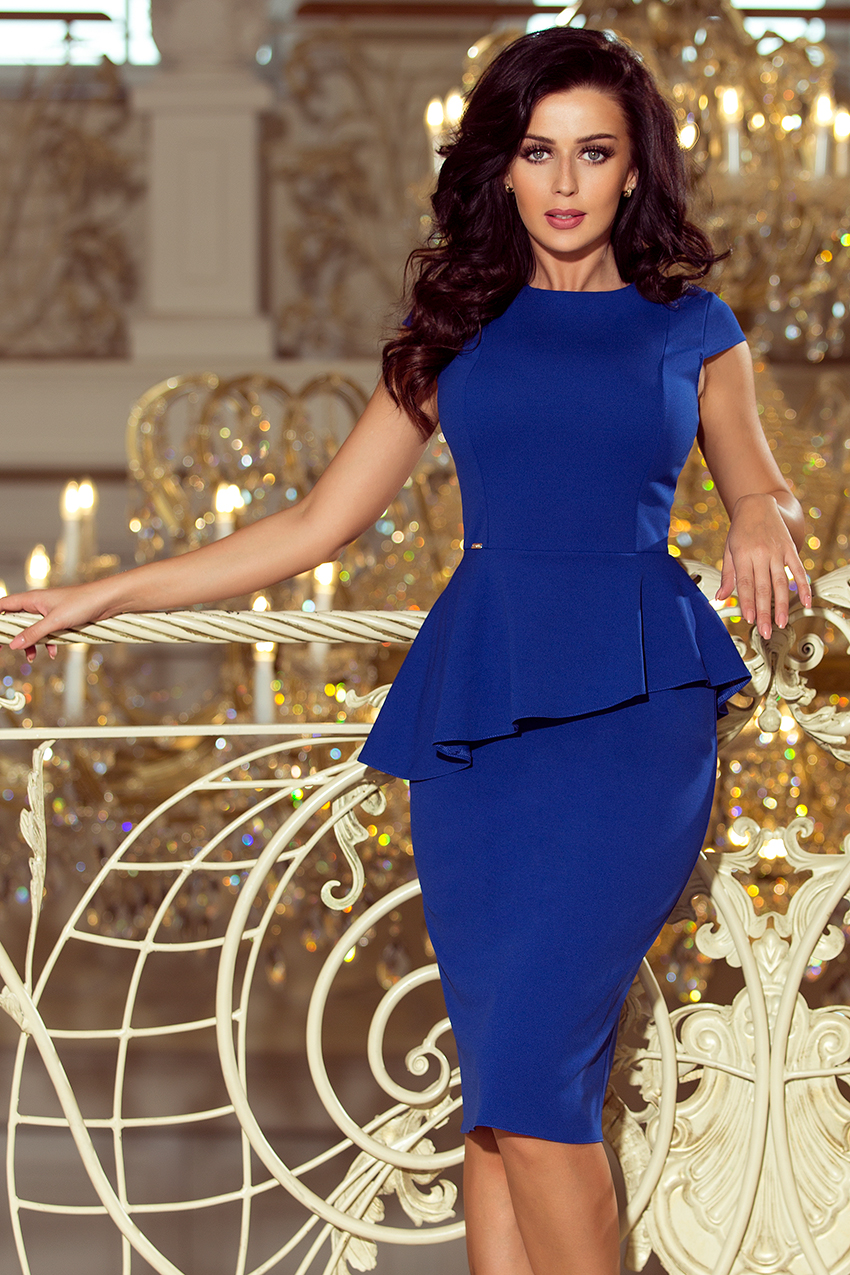 Dámske šaty 192-7 - NUMOCO kráľovská modrá XXL