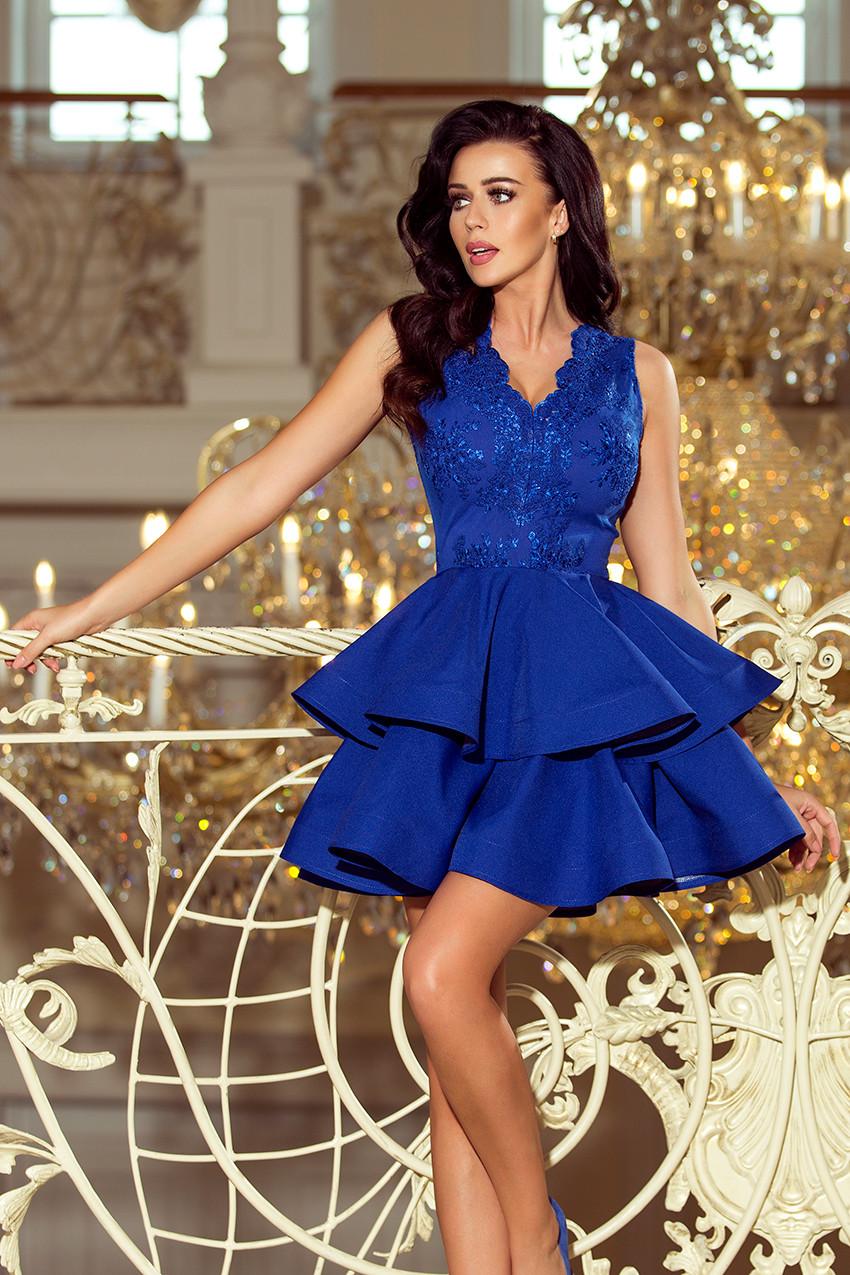Dámske šaty 200-7 - NUMOCO kráľovská modrá M