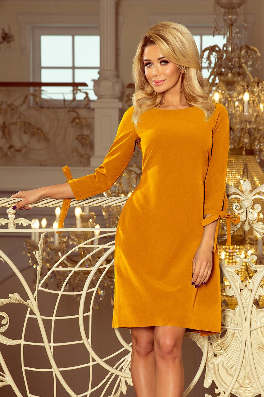 Dámske šaty 195-6 - NUMOCO žlutá-oranžová L