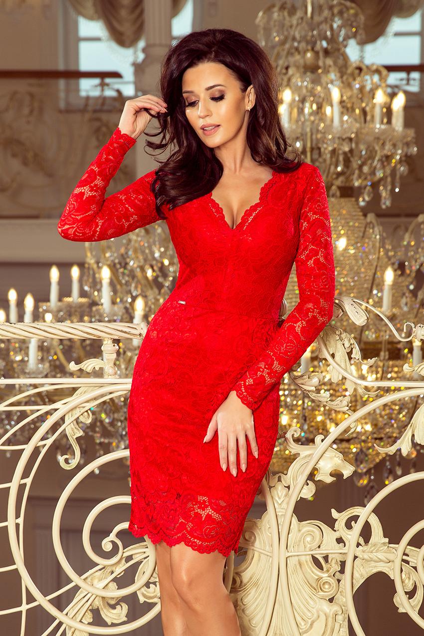 Dámske šaty 170-6 - NUMOCO červená M