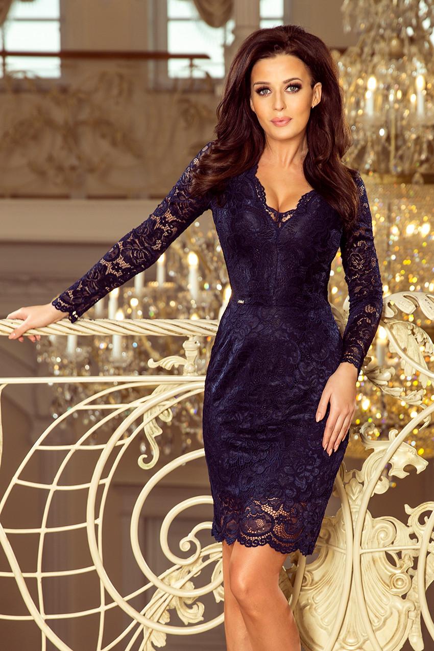 Dámske šaty 170-7 - NUMOCO tmavo modrá S