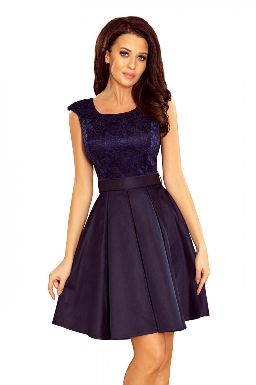 Dámske šaty 244-2 - NUMOCO tmavo modrá XL