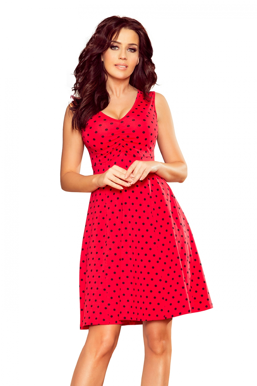 Dámske šaty 238-1 - NUMOCO červená XL