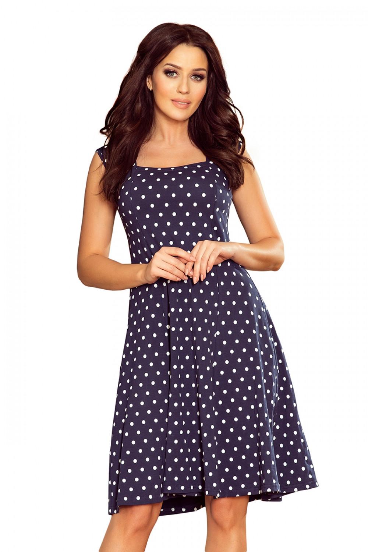Dámske šaty 241-1 - NUMOCO tmavo modrá XXL