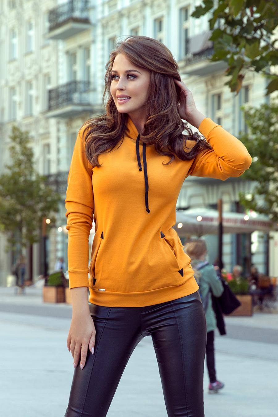 Dámska mikina 262-1 - NUMOCO žlto-oranžová XS