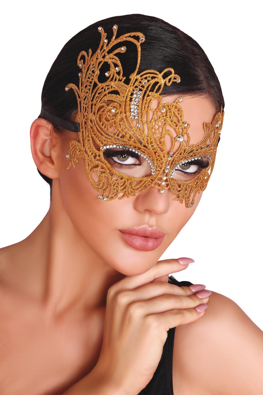 Maska na oči Maska zlatá - LivCo CORSETTI FASHION univerzálny