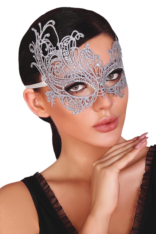 Maska na oči Maska strieborná - LivCo CORSETTI FASHION univerzálny