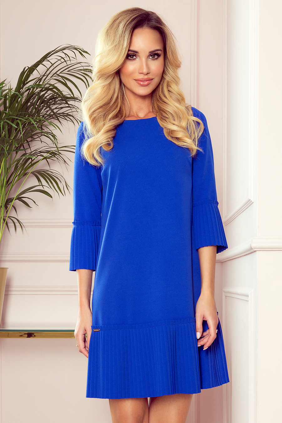 Dámske šaty 228-8 Lucy - NUMOCO kráľovská modrá S