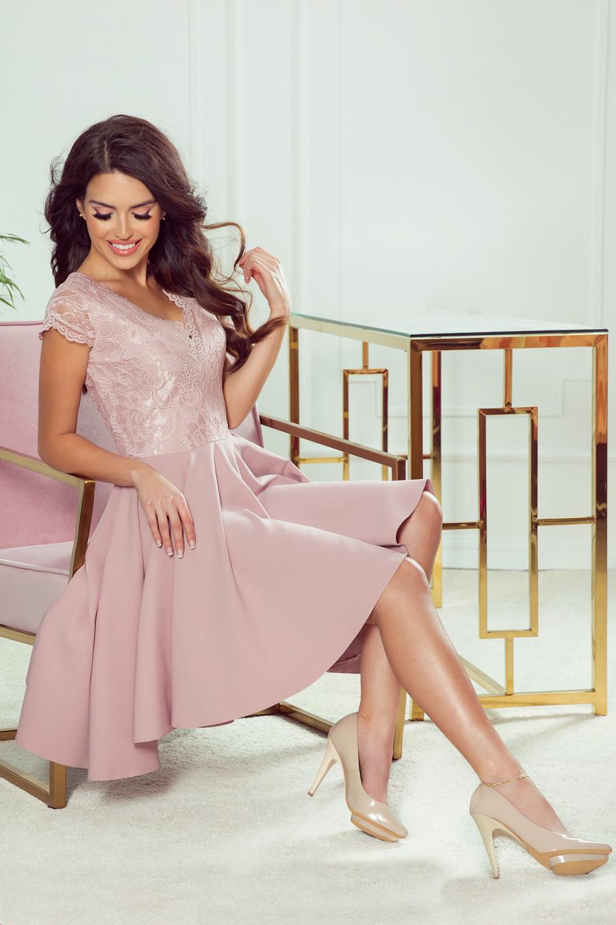 Dámské šaty 300-1 Patricia staro růžová L