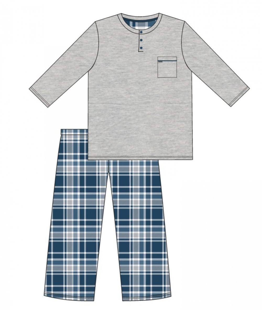Pánske pyžamo 125/169 dave - Cornet melanž XL