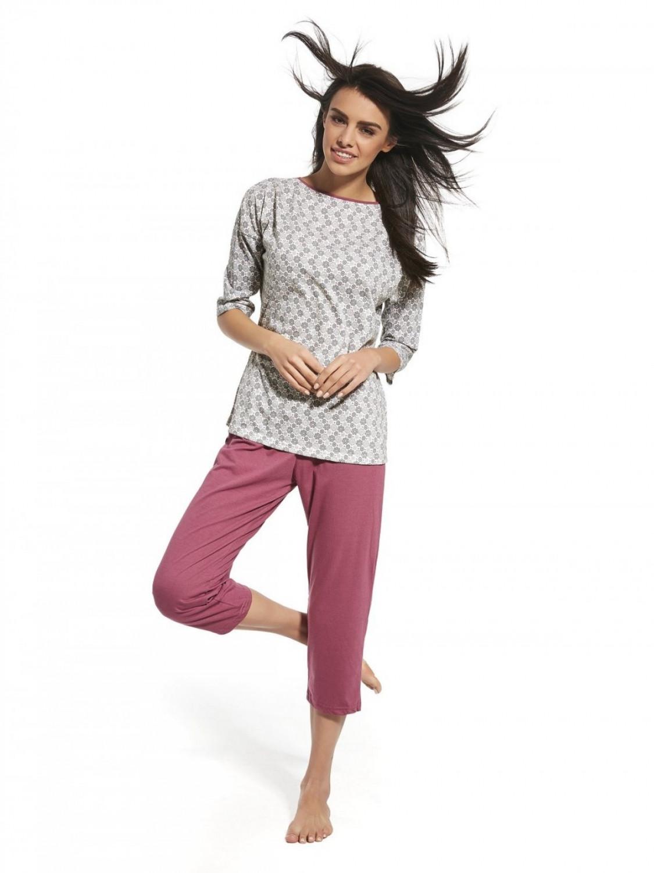 Dámske pyžamo 147/157 Iga plus - Cornet šedá 3XL