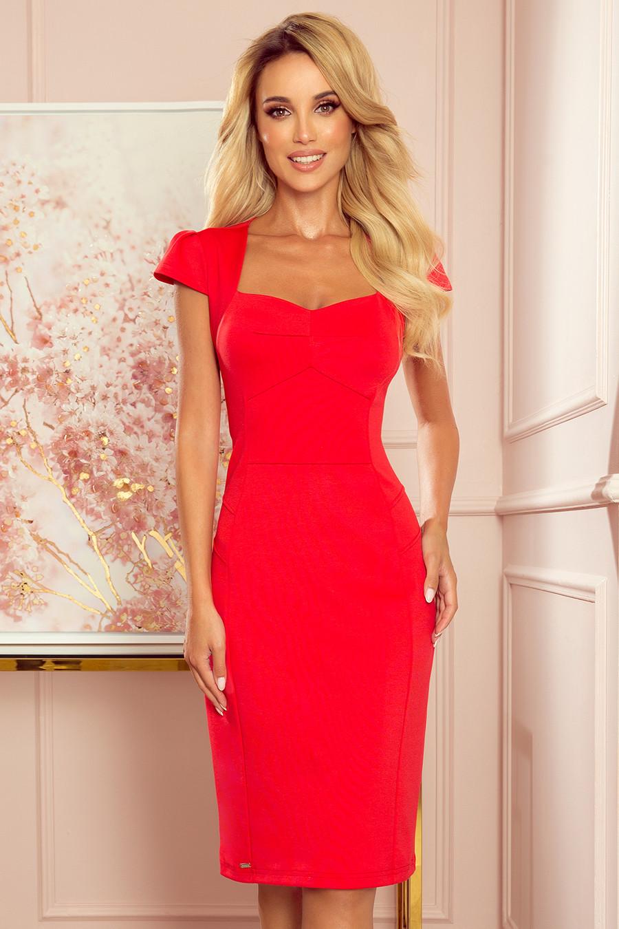 Dámske šaty 318-1 - NUMOCO červená XL