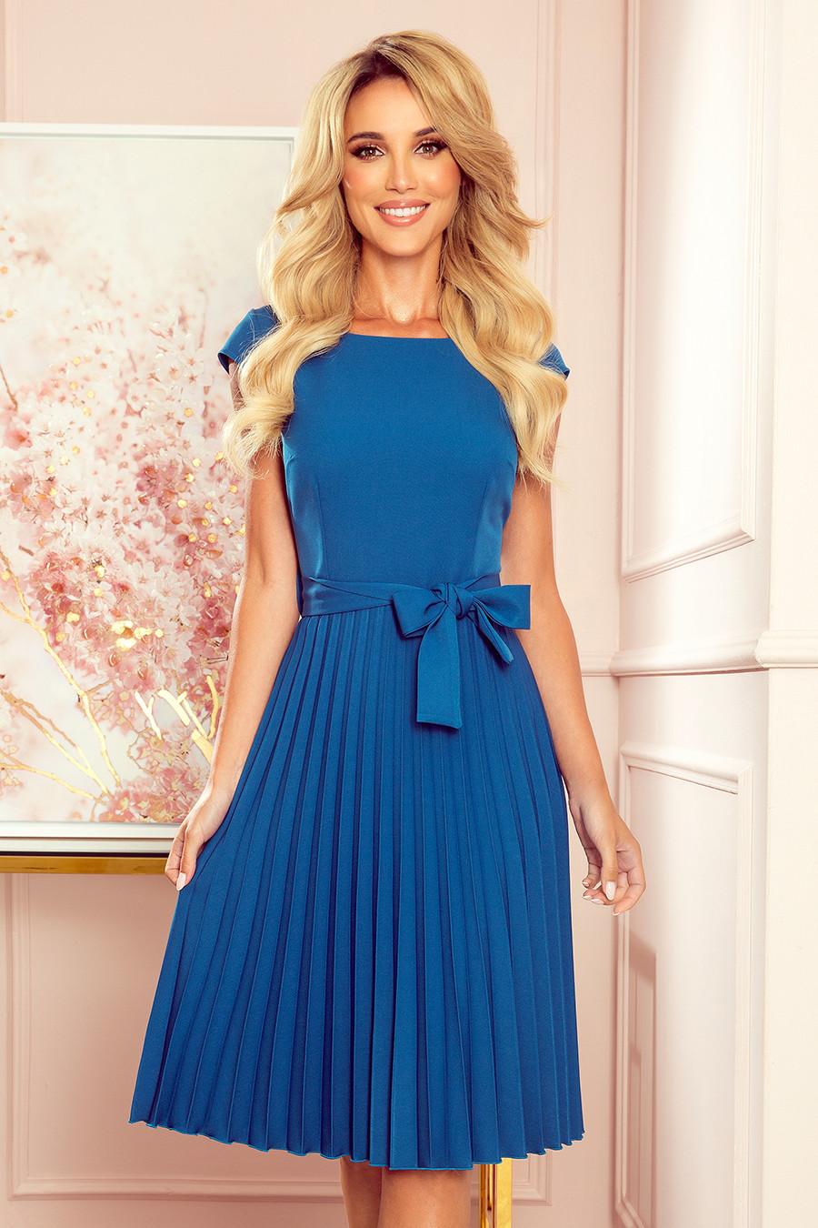 Dámske šaty 311-4 LILA - NUMOCO modrá XXL