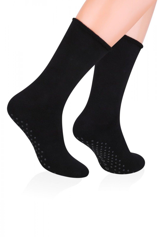 Pánske ponožky ABS 013 black - Steven čierna 44/46