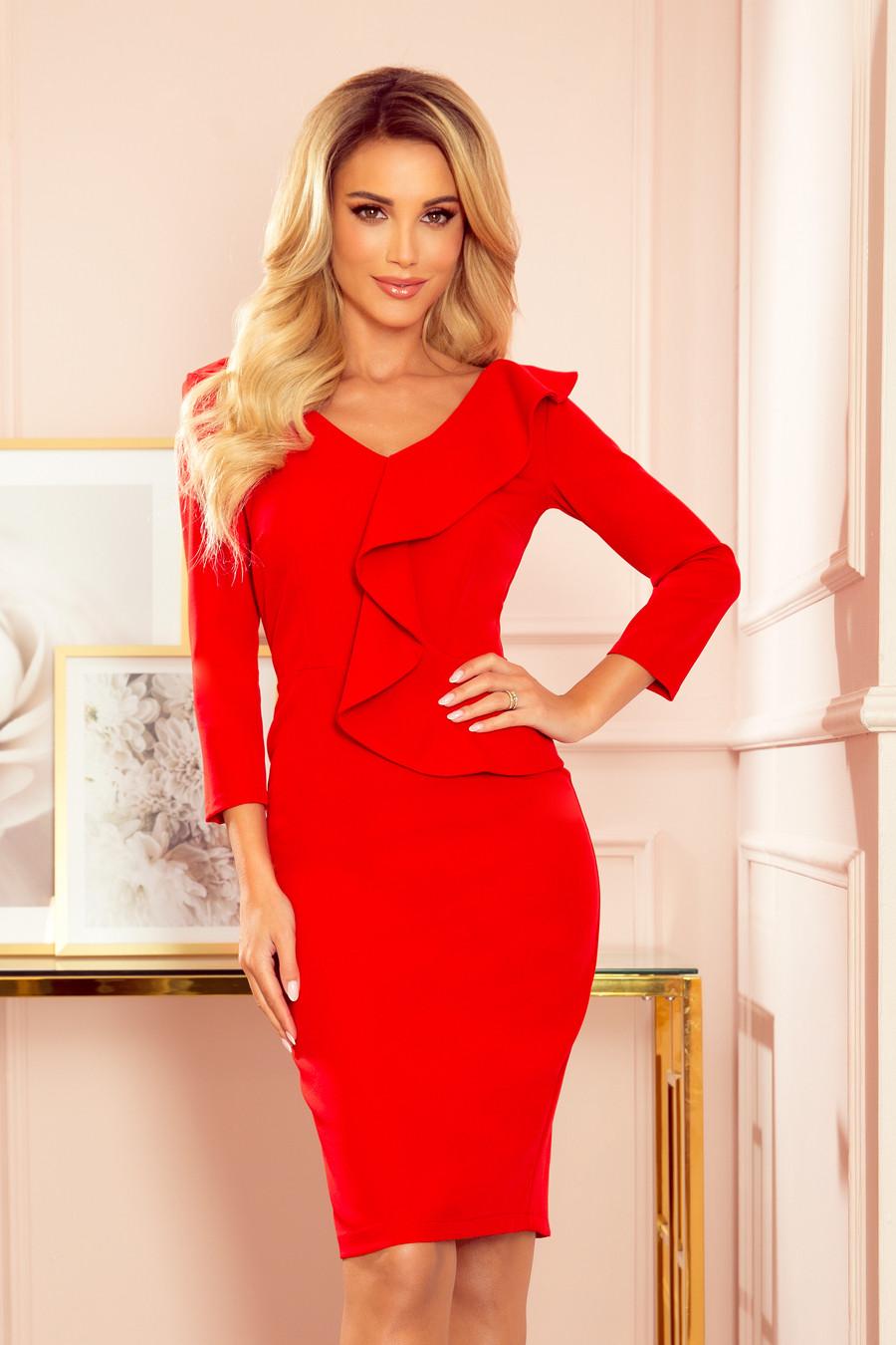 Dámske šaty 327-2 - NUMOCO červená M