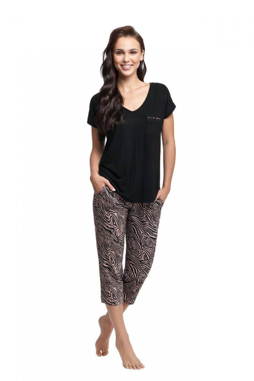 Dámske pyžamo 579 black - Luna čierna XL