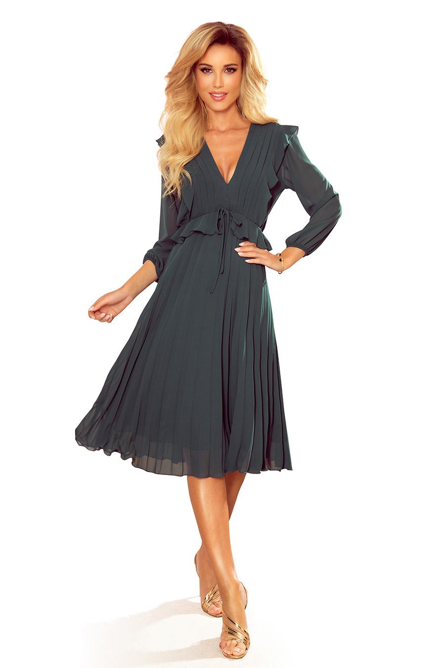 Dámské šaty 341-2 POLLY - NUMOCO zelená XL
