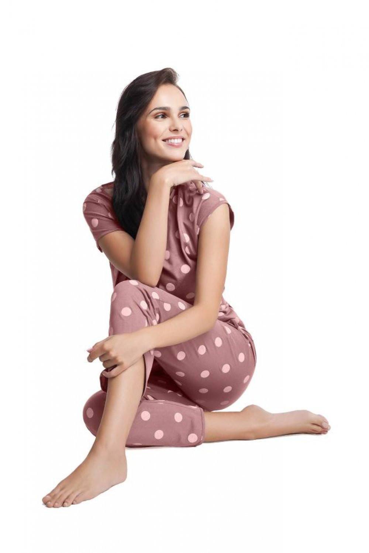 Dámske pyžamo 496 - Luna béžová XXL