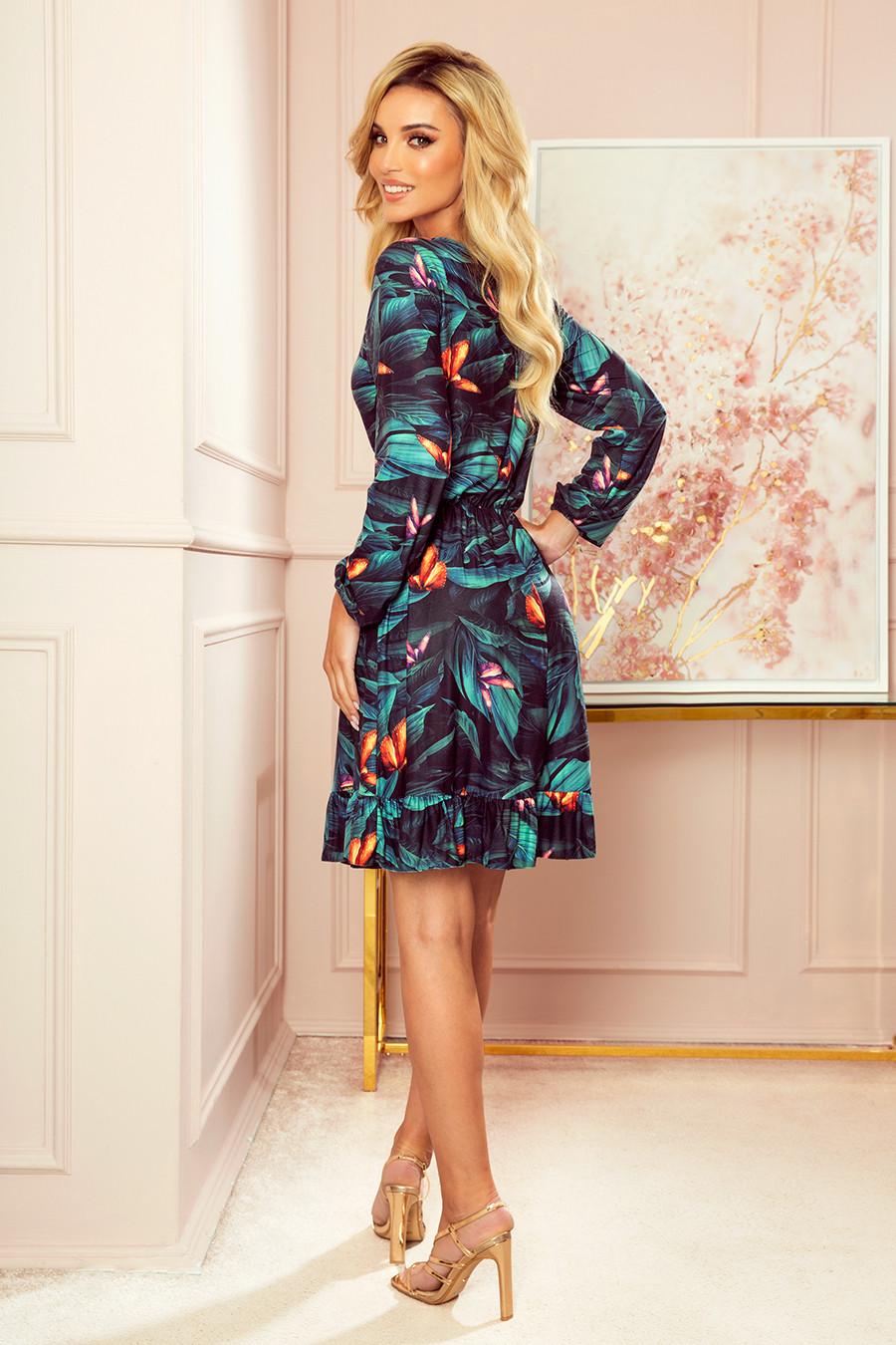 Dámske šaty 320-1 CORA - NUMOCO viacfarebné XL