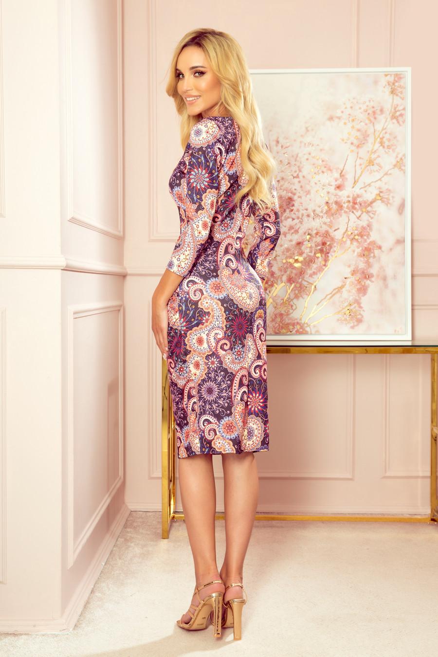 Dámske šaty 59-10 - NUMOCO viacfarebné XL