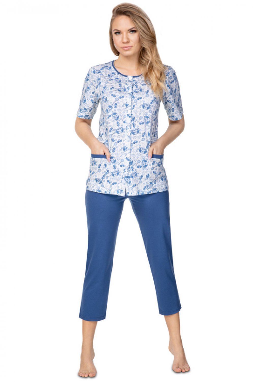 Dámske pyžamo 946 - REGINA tmavo modrá L