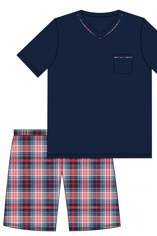 Pánske pyžamo 329/113 Steve - Cornet tmavo modrá XL
