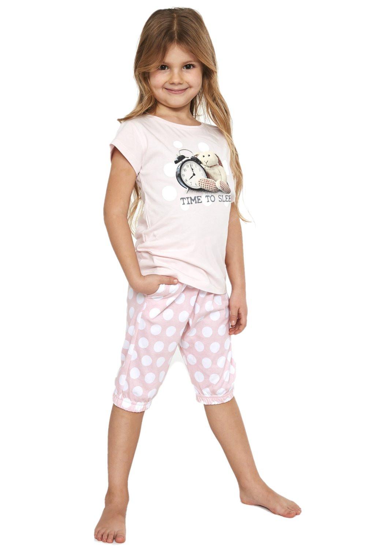 Dievčenské pyžamo 570/89 - Cornette ružová 122/128