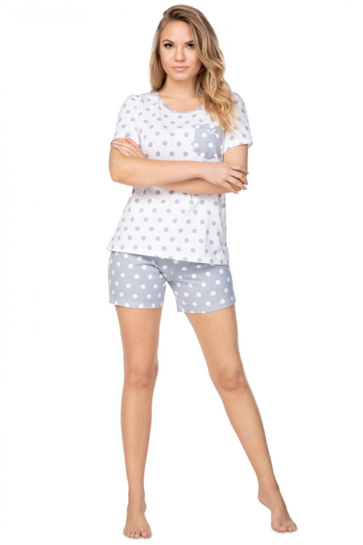 Dámske pyžamo szara - REGINA biela S