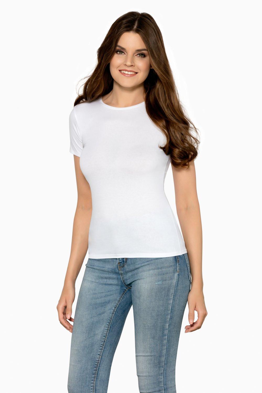 Dámské tričko Claudia white - BABELL bílá S