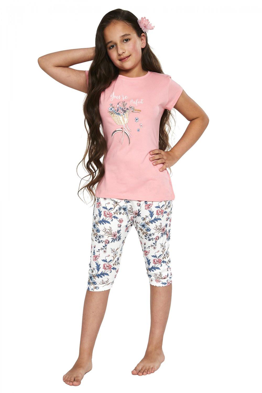 Dievčenské pyžamo 490/88 - Cornette ružová 122/128