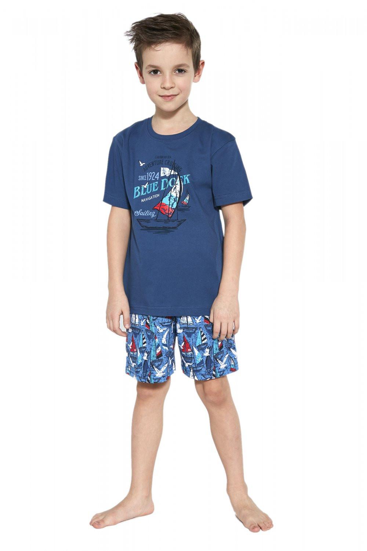 Chlapčenské pyžamo 789/96 Dock - Cornet džínsová 122/128