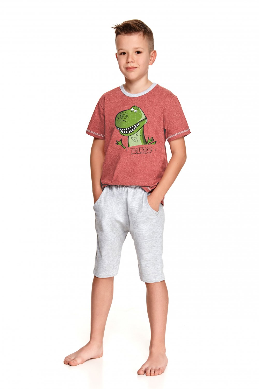 Chlapčenské pyžamo 2216 Alan - TARO kaštanové 140