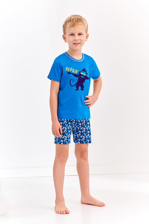 Chlapčenské pyžamo 944 Damian - TARO tmavo modrá 134